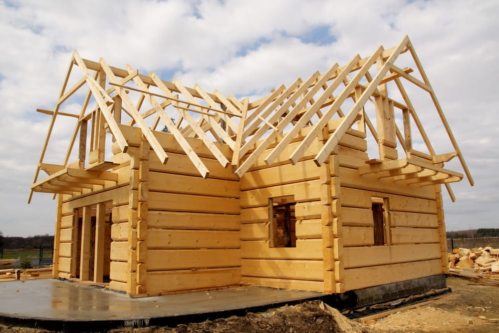 home being built representing builders risk insurance